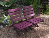 Add Zen Beauty to your Garden & Patio - Egg Plant Color Cedar Chair - Storable! - handcrafted by Laughing Creek