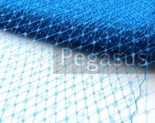 ROYAL BLUE French Netting (Sold by the Yard)  Birdcage Veil Material for DIY wedding blusher veiling, hair accessories and costuming