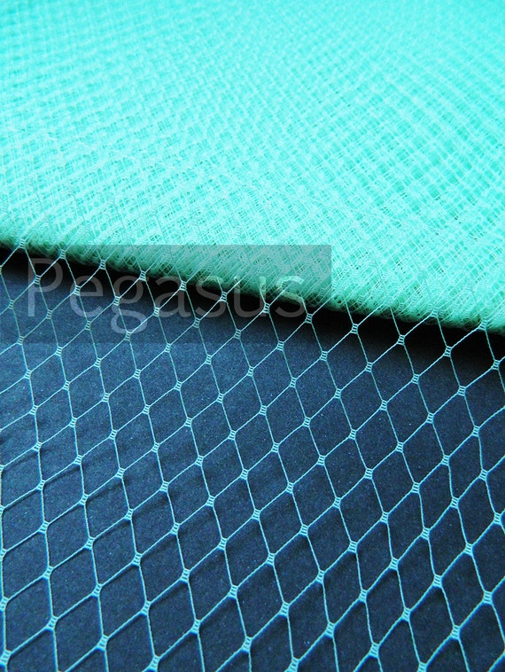 MINT GREEN French Netting (sold by the yard) Birdcage Veil Material for DIY wedding blusher veiling, hair accessories and costuming
