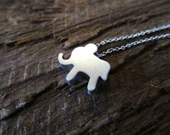Elephant Necklace, Silver Tiny Charm, Good Luck Jewelry, Lucky Charm Necklace, Petite Jewelry, Pendant Necklace, Graduation Gift, Graduate