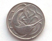 Swordfish Singapore 20 Cent Coin 1980s