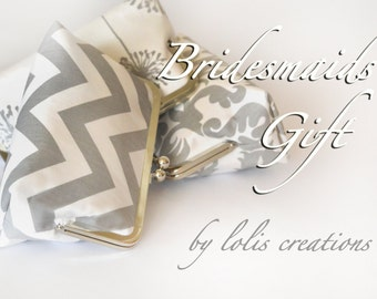 Bridesmaids Clutch Gifts Party Grey Purses Bridesmaids Custom Bridesmaids Bags Grey Clutches Personalized
