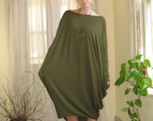 Shape Shifter Asymmetric Dress Off Shoulder Oversize Tunic Long Sleeve Long Midi Dress Maternity Fall Dress XSmall - XLarge (More Colours)