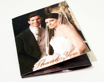 Simple & Classy Accordion Fold Wedding Thank You Cards (104)