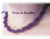 Spiral Rope Anklet, Bracelet, Necklace Pattern, Beading Tutorial in PDF, with Video Guide
