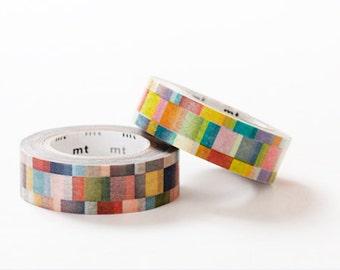 MT 2013 S/S - Japanese Washi Masking Tape set of 2 / Bright & Dark Colorful Mosaic
