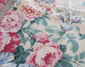 1940's Romantic Floral Curtain Panels Fabric