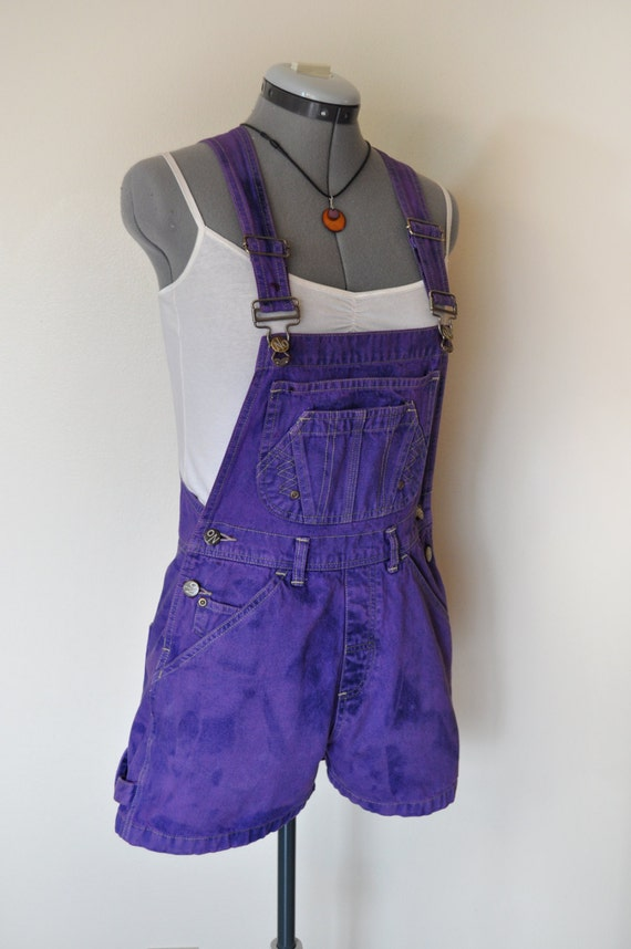 Purple Bib Overalls Hand Dyed Violet No Boundaries Denim