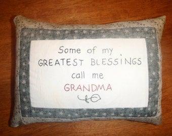 grandma blessing pillow
