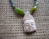 SPARKLING BUDDHA Pendant Beaded Necklace 19 inches Sale 10 percent off
