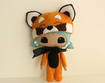 Peek-a-Boo Red Panda pdf Pattern - Instant Download