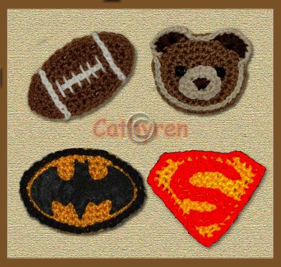 Football, Teddy Bear, Batman And Superman Logos