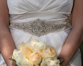 Bridal Wedding Sashes Beaded Jeweled Crystal Belt Sash Brooch Embellishment applique