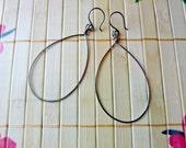 T-Shirt Earrings - Large Niobium or Argentium Wire Hoop Earrings Wirework Earrings Wire Wrapped Jewelry Lightweight Earrings Handmade Hoops
