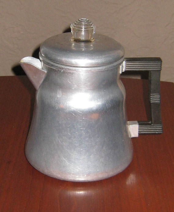 Vintage Wearever Aluminum Stove Top Coffee Percolator