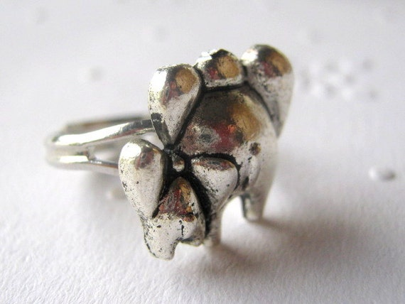 Elephant Ring, Mama and Baby Elephant Ring, Silver Elephant Ring. Adjustable Elephant Ring