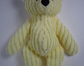 Yellow Chenille Teddy Bear