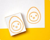 Cute boiled egg hand carved rubber stamp. Rubber stamp. Handmade stamp. Picnic stamp