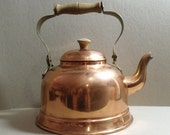 copper tea kettle tea pot Made in Portugal