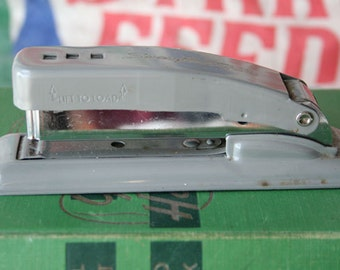 Vintage Swingline Cub Stapler Gray Grey Industrial Desk Office Metal