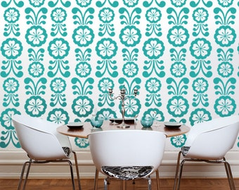 Flower Wall Decal, Flower Wall Decorations, Retro Wall Decor, Mid Century Modern, Flowers Decal, Modern Nursery Decor, Retro Wall Pattern