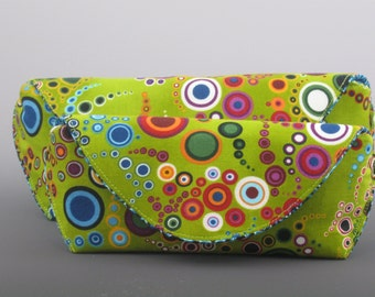 eyeglass case in Amelia Caruso Effervescence- Green- Made to order