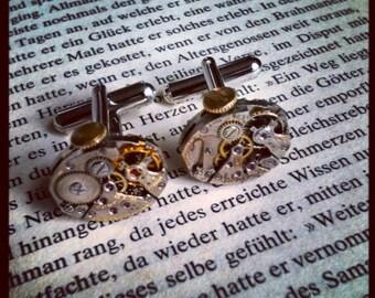 Vintage watch movement cufflinks
