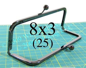 24% OFF 25 Duskcoat Gunmetal(TM) 8x3 purse frame