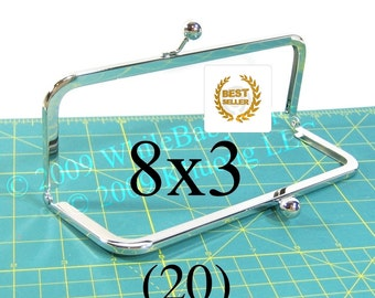 25% OFF 20 Nickel-free 8x3 purse frames with Kisslock closure