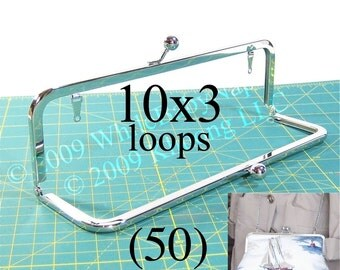 28% OFF 50 Nickel-free 10x3 purse frame kisslock with LOOPS