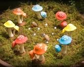 Small Polka-Dot Mushrooms for the Fairy Garden