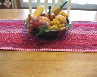 Quilted Red Table Runner
