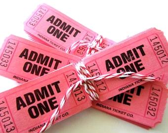 20 Pink Raffle Tickets