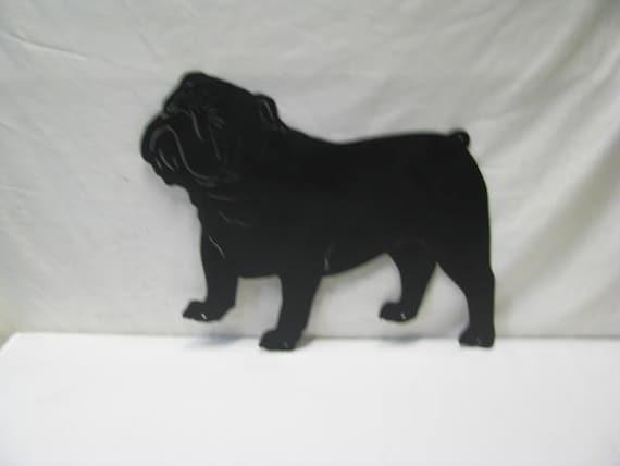 Bulldog Metal Yard Art Dog Silhouette