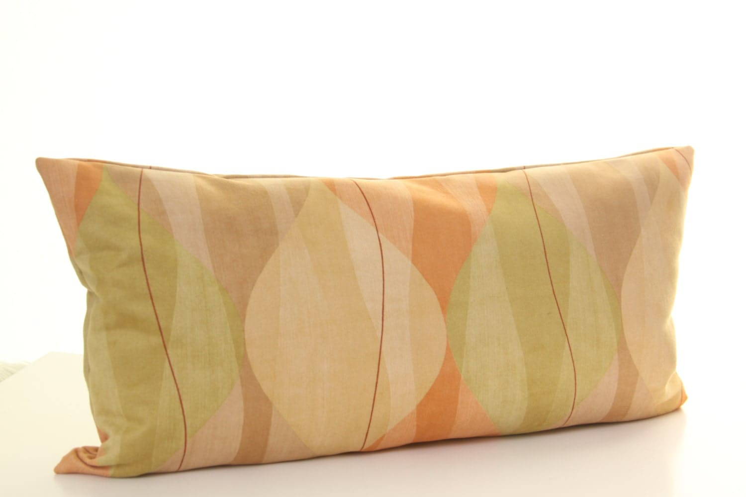 Mid Century Lumbar Pillow : Faux Suede Mid-Century Print Pillow Cover Retro by AccentuateToday