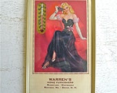 Vintage Pin Up Girl Advertising Wall Thermometer