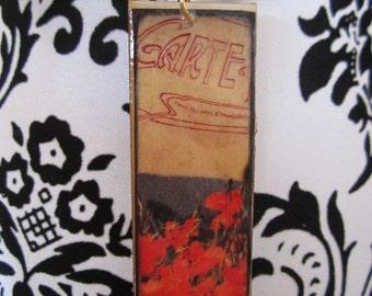 Red Poppy pendant.
