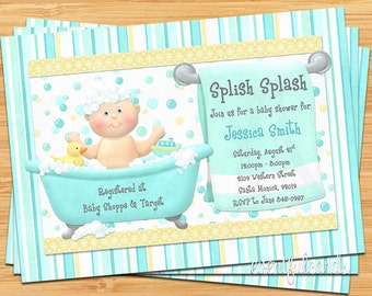 Bath Baby Shower Invitation