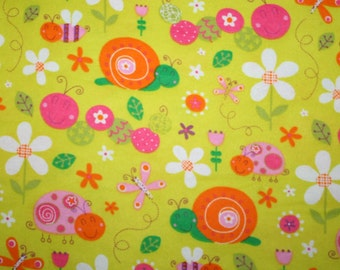 Cute as a Bug Flannel Fabric 1 Yard