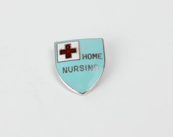 Vintage Red Cross Home Nursing Pin