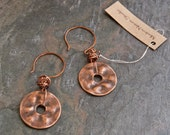 Organic Form Copper Earings