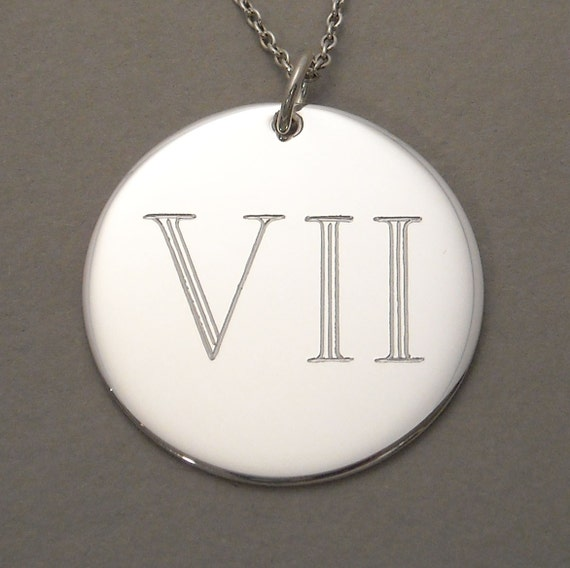 Items Similar To Roman Numeral Monogram Charm Personalized