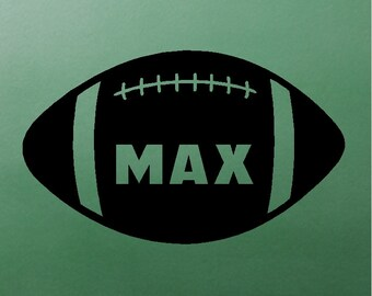 Personalized Football Decal Removable Football Wall Sticker