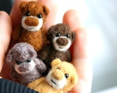 A set of 4 miniature bears - for a special price - made to order
