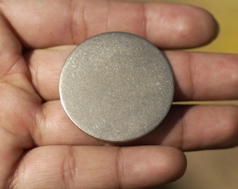 35mm Nickel Silver Blank Disc 20G Cutout Stamping Texturing Jewelry Blanks - 4 Pieces