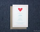 Heart Shower Invitation with Heart Graphic - Customizable for any occasion