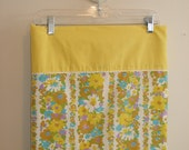 Yellow Floral Mod PIllowcases: Set of 2