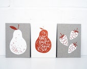 White Fruit Postcard Set