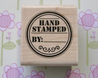 Hand Stamped Tag - Stampabilities Rubber Stamp