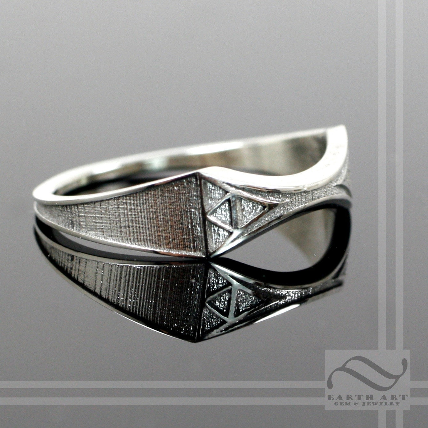 zelda wedding band sterling silver